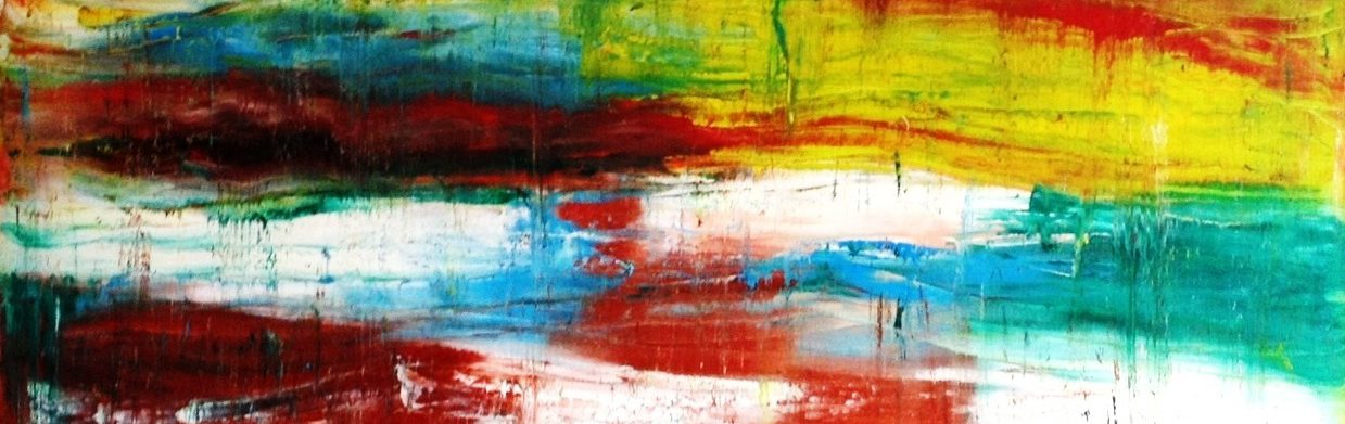 Beroemd Abstract Schilderij Kopen in opdracht laten maken.Sfeervol in huis &SI67