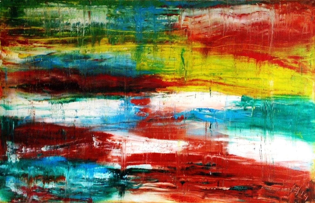 Favoriete Abstract Schilderij Kopen in opdracht laten maken.Sfeervol in huis &NS53