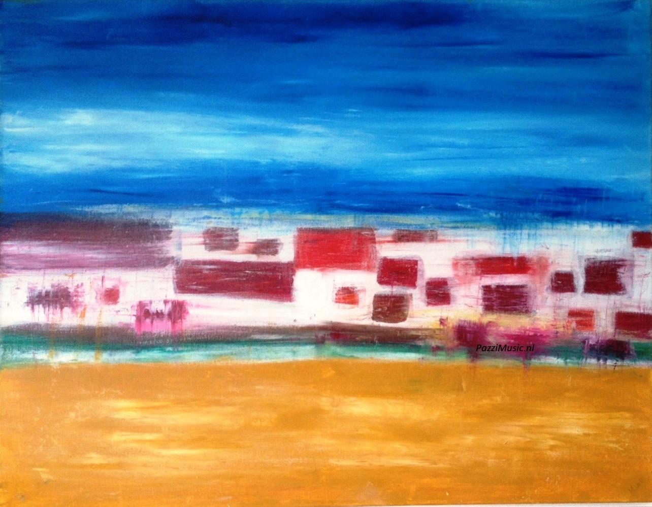 Verwonderlijk Abstract Schilderij Kopen in opdracht laten maken.Sfeervol in huis CP-62