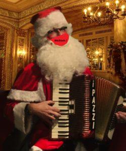 Kerstman Accordeonist Corona Covid 19 AccordeonMuziek Kerst PazziMusic